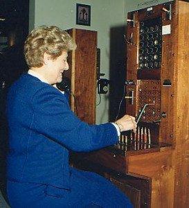 opératrice telephone 1960