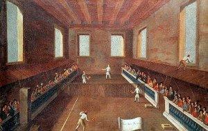 jeu_de_courte_paume_par_Gabriele_Bella_en_1725,_à_Venise